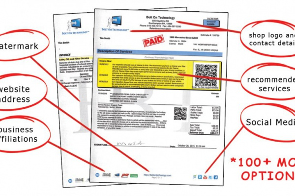 Auto Repair Invoice Archives  Bolt On Technology